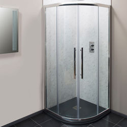 Oxford 800mm Quadrant Shower Enclosure With 8mm Thick Glass (Chrome).