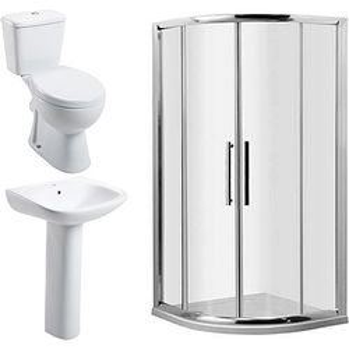 Oxford En Suite Bathroom Pack With 900mm Shower Enclosure & 8mm Glass.