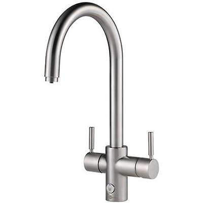 InSinkErator Hot Water 4N1 J Shape Steaming Hot Kitchen Tap (Brushed Steel).