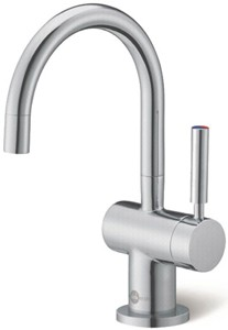 InSinkErator Hot Water Steaming Hot & Cold Filtered Kitchen Tap (Brushed Steel).