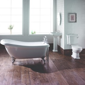 Hydra Eton Slipper Roll Top Bathroom Suite. 1710x740mm.