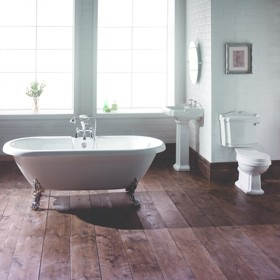 Hydra Windsor Double Ended Roll Top Bathroom Suite. 1700x750mm.