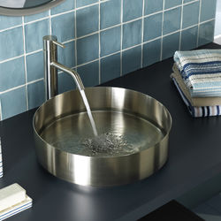 JTP Inox Round Counter Top Basin (400mm, Stainless Steel).