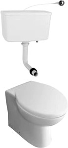 Hydra G2 Back To Wall Toilet Pan With Soft Close Seat & Cistern.