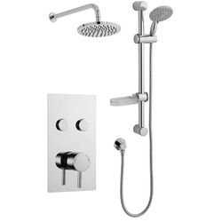 Kartell Plan Push Shower Valve, Slide Rail Kit With Head & Arm (Option 10).