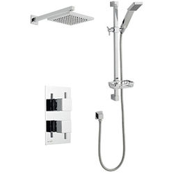 Kartell Pure Shower Valve, Slide Rail Kit With Head & Arm (Option 3).