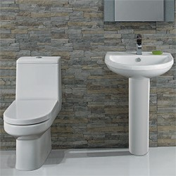 Hydra Revive Suite With Toilet Pan. Cistern, Seat, Basin & Pedestal.
