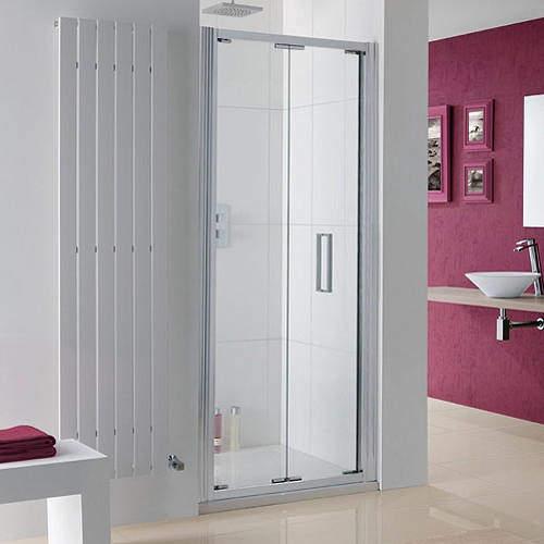 Lakes Coastline Bergen Bi-Fold Shower Door With 8mm Glass (900x2000mm).