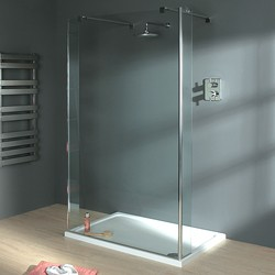 Lakes Italia Wet Room Glass Shower Screen, 1200x1950. 800mm Arms.