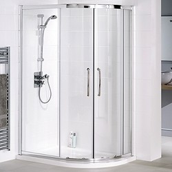 Lakes Classic Right Hand 1200x900 Offset Quadrant Shower Enclosure & Tray.