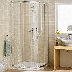 Lakes Classic 800mm Quadrant Shower Enclosure & Tray (Silver).