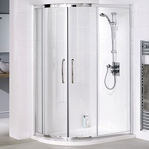 Lakes Classic Left Hand 900x800 Offset Quadrant Shower Enclosure & Tray.