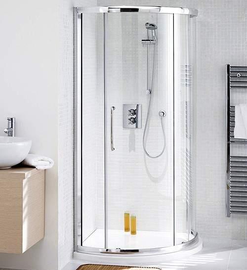 910mm Corner Shower Enclosure Slider Door Amp Tray Silver