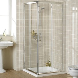 Lakes Classic 900mm Square Shower Enclosure & Tray (Silver).