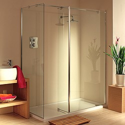 Lakes Italia Frameless Walk In Shower Enclosure. Right Hand. 1600x750mm.