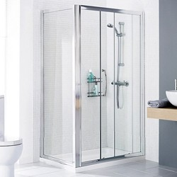 Lakes Classic 1400x900 Shower Enclosure, Slider Door & Tray (Left Handed).