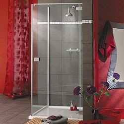 Lakes Italia Frameless Square Shower Enclosure & Tray. Right Handed. 750mm.