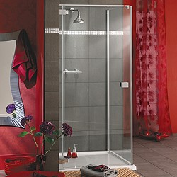 Lakes Italia Frameless Square Shower Enclosure & Tray. Left Handed. 800mm.