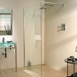 Lakes Italia 1000x1950 Glass Shower Screen & 900mm Arm. Left Handed.