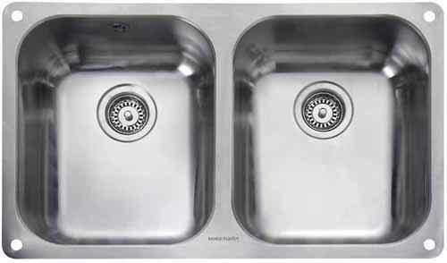 Rangemaster Atlantic Undermount 2.0 Bowl Steel Kitchen Sink.