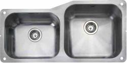 Rangemaster Atlantic Undermount 1.75 Bowl Steel Sink, Left Hand Bowl.