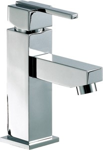 Mayfair Ice Quad Lever Mono Basin Mixer Tap With Pop Up Waste (Chrome).