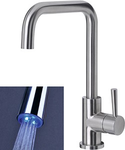 Mayfair Kitchen Melo Glo Kitchen Tap With LED Spout Lights (Stainless Steel).