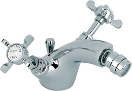 Mayfair Westminster Mono Bidet Mixer Tap With Pop Up Waste (Chrome).