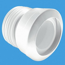 "McAlpine Plumbing WC 4""/110mm Straight Toilet Pan Connector (Macfit)."