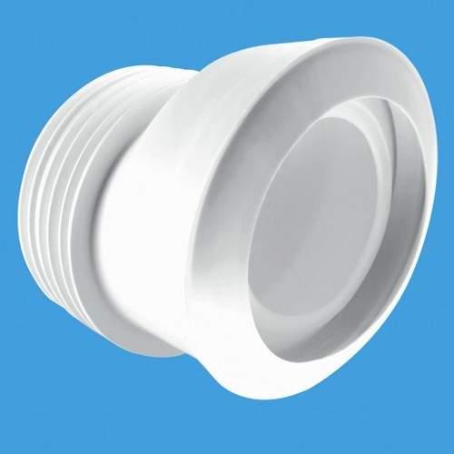 """McAlpine Plumbing WC 4""""/110mm Offset Toilet Pan Connector (Macfit)."""