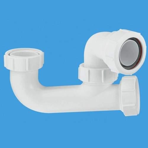 "McAlpine Bath Traps 1 1/2"" x 50mm Water Seal Bath Trap With Cleaning Eye"