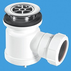 "McAlpine Shower Traps 1 1/2"" x 19mm Water Seal Shower Trap, 70mm Flange."