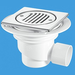 McAlpine Gullies 75mm Shower Trap Gully For Tiled Or Stone Flooring.