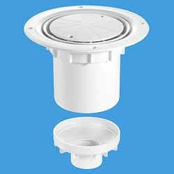 McAlpine Gullies 75mm Shower Trap Gully For Sheet Flooring.