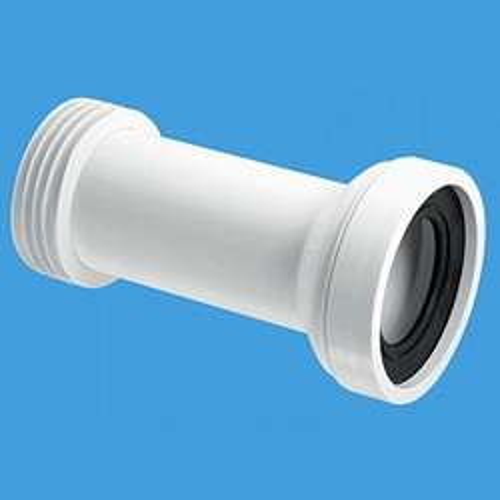 "McAlpine Plumbing WC 4""/110mm Straight Toilet Pan Adjustable Connector."