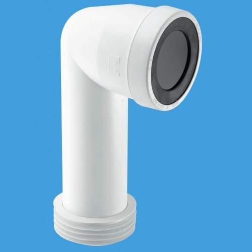 """McAlpine Plumbing WC 4""""/110mm 90 Degree Toilet Pan Adjustable Connector."""