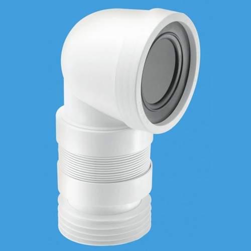 "McAlpine Plumbing WC 4""/110mm 90 Degree Toilet Pan Extendible Connector."