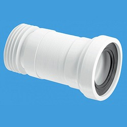"McAlpine Plumbing WC 4""/110mm Toilet Pan Flexible Connector 410mm."