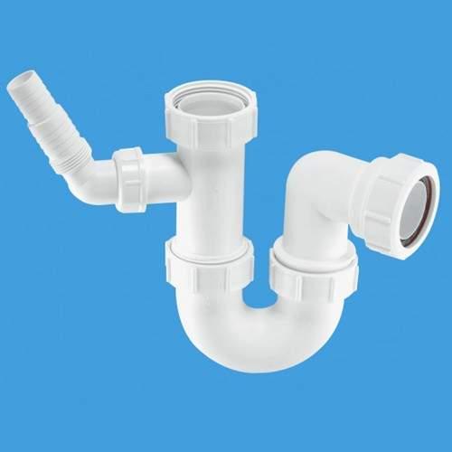 "McAlpine Plumbing 1 1/2"" Sink Trap With 135° Swivel Nozzle."