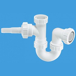 "McAlpine Plumbing 1 1/2"" Sink Trap With Horizontal Inlet."