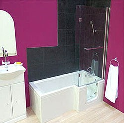 Mantaleda Savana Walk In Shower Bath With Right Hand Door (Whirlpool).