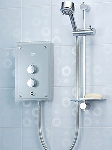 Mira Azora 9.8kW Electric Shower. Thermostatic With Frosted Glass Front.