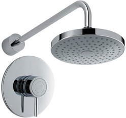 Mira Element Concealed Thermostatic Shower Valve With Round Shower Head.
