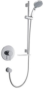 Mira Element Concealed Thermostatic Shower Valve With Slide Rail Kit (Chrome).