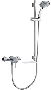 Mira Element Exposed Thermostatic Shower Valve With Slide Rail Kit (Chrome).