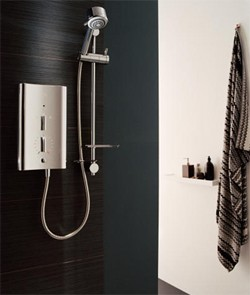 Mira Electric Showers Mira Escape 9.8kW thermostatic in chrome.