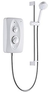 Mira Electric Showers Jump Electric Shower (White & Chrome, 10.5kW).