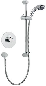 Mira Miniduo Concealed Thermostatic Shower Valve With Eco Slide Rail Kit.