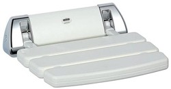 Mira Accessories Mira Shower Seat (White & Chrome).