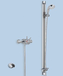 Mira Select Flex Exposed Thermostatic Shower Valve With Shower Kit (Chrome).